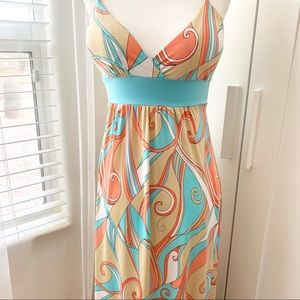 Forever 21 swirly print maxi dress c. 2005 #182